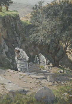 Reprodukcja  He Went on His Way to Ephraim, illustration from 'The Life of Our Lord Jesus Christ', 1886-96