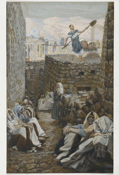 Reprodukcja He who Winnows his Wheat, illustration from 'The Life of Our Lord Jesus Christ'