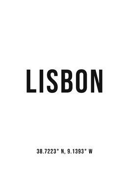 Ilustracja Lisbon simplecoordinates