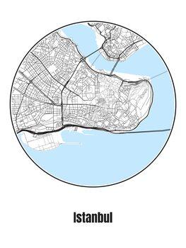 Ilustracja Map of Istanbul