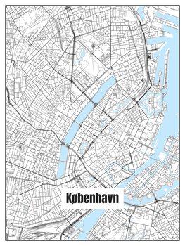 Ilustracja Map of København