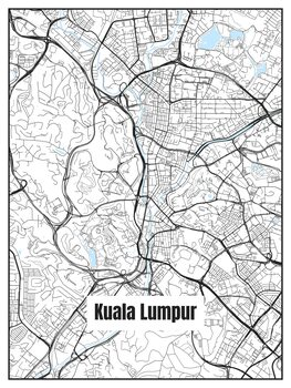Ilustracja Map of Kuala Lumpur