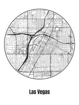 Ilustracja Map of Las Vegas