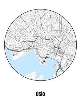 Ilustracja Map of Oslo