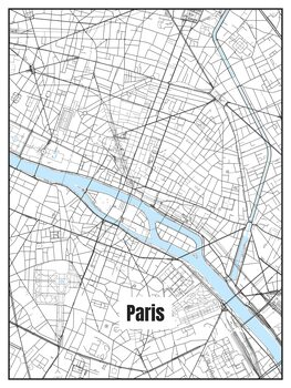 Ilustracja Map of Paris