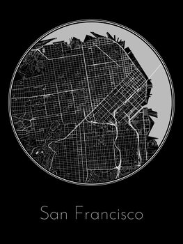 Ilustracja Map of San Francisco