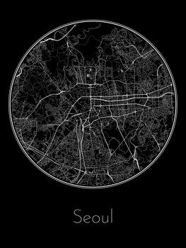 Ilustracja Map of Seoul