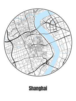 Ilustracja Map of Shanghai