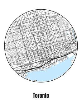 Ilustracja Map of Toronto