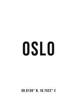 Ilustracja Oslo simple coordinates