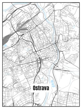 Mapa Ostrava