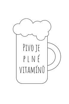 Ilustracja Pivo=vitamíny