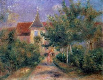 Reprodukcja Renoir's house at Essoyes, 1906 ,