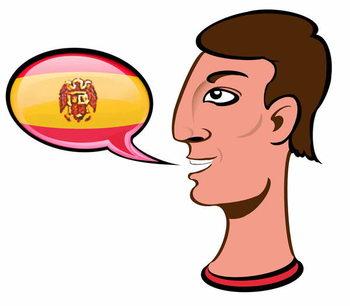 Reprodukcja Speaking Spanish - illustration