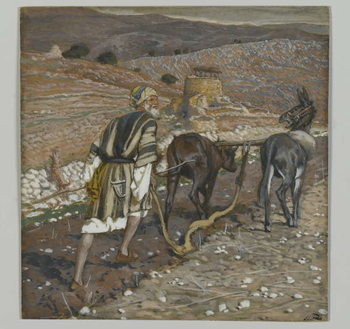 Reprodukcja The Man at the Plough, illustration from 'The Life of Our Lord Jesus Christ'