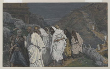 Reprodukcja The Protestations of Saint Peter, illustration from 'The Life of Our Lord Jesus Christ', 1886-94