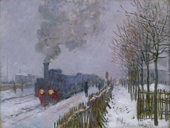 Reprodukcja  Train in the Snow or The Locomotive, 1875