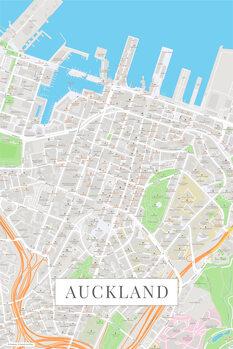 Mappa di Auckland color
