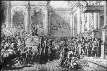 Back from the Consecration, Napoleon arriving at the Hotel de Ville, Paris, 1805 - Stampe d'arte