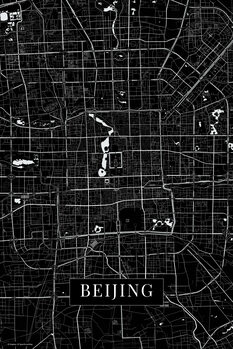 Mappa di Beijing back