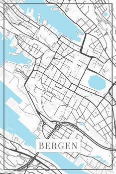Mappa di Bergen white