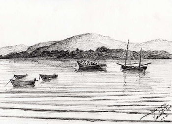 Boats off Iona, 2007, - Stampe d'arte