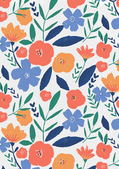 Illustrazione Bold floral repeat