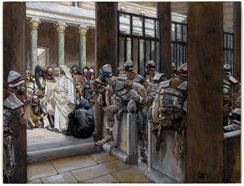 But No Man Laid Hands on Him, illustration for 'The Life of Christ', c.1884-96 - Stampe d'arte