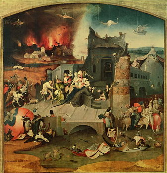 Central Panel of the Triptych of the Temptation of St. Anthony (oil on panel) - Stampe d'arte