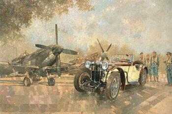 Cream Cracker MG 4 Spitfires - Stampe d'arte