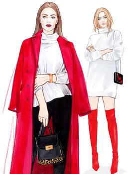 Illustrazione Focus on red