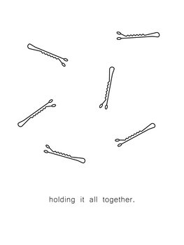 Illustrazione holding it all together