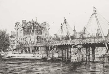 Hungerford Bridge London, 2006, - Stampe d'arte