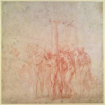 Inv. 1895 6-15-500. R. (W.15) The Flagellation of Christ - Stampe d'arte