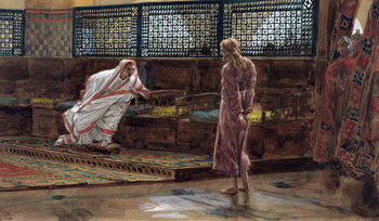 Jesus for the First Time before Pilate, illustration for 'The Life of Christ', c.1886-94 - Stampe d'arte