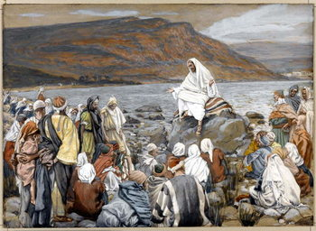 Jesus Teaches the People by the Sea, illustration for 'The Life of Christ', c.1886-96 - Stampe d'arte