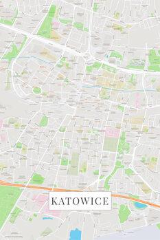 Mappa Katowice color