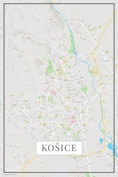 Mappa di Kosice color