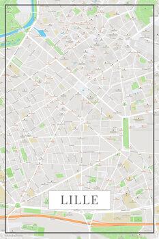 Mappa di Lille color