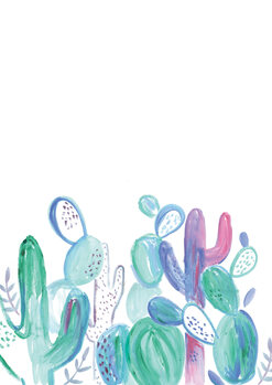 Illustrazione Loose abstract cacti