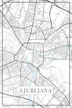 Mappa di Lubljana white