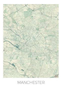 Mappa di Manchester
