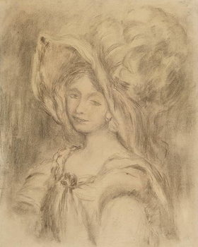Mme Dieterle in a Hat, c.1896 - Stampe d'arte