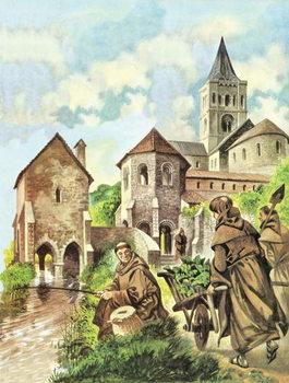 Monks fishing - Stampe d'arte