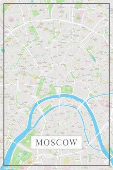 Mappa di Moscow color