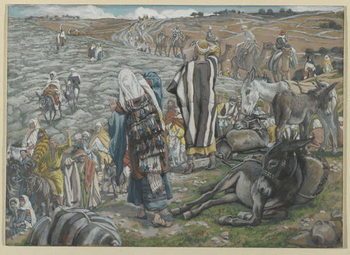 On Return from Jerusalem it is noticed that Jesus is Lost, illustration from 'The Life of Our Lord Jesus Christ' - Stampe d'arte