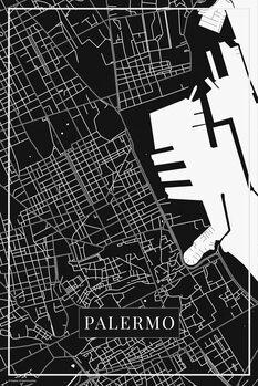 Mappa di Palermo black