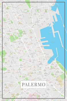 Mappa di Palermo color