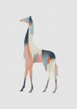 Illustrazione Pastel Giraffe