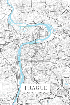Mappa Prague white